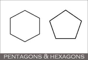 Pentagon and Hexagon (Geometric Shapes)