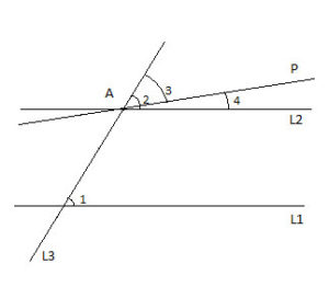 Proving that lines are parallel in geometry