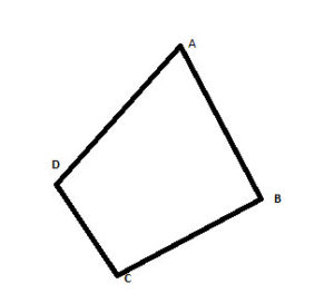 Geometry shapes: simple convex quadrangle