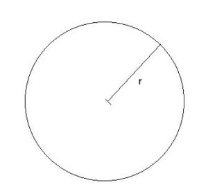 Geometry drawing: area of a circle
