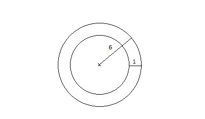 Area of ring in geometry
