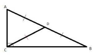 Geometry shapes: Median to the hypotenuse