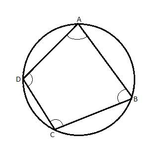 Geometry: Quadrilateral inscribed in Circle