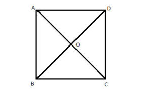 Square with diagonals