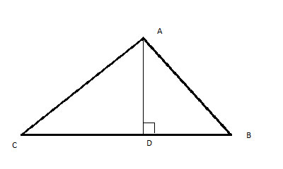 Triangle Inequality Theorem: draw the height