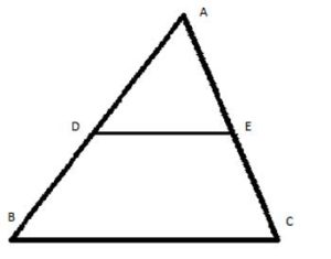a triangle with midsegment
