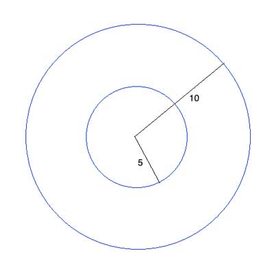 Drawing of an area of a circle
