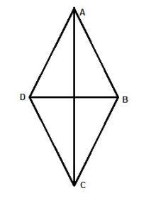 Geometry shape: diamond with diagonals