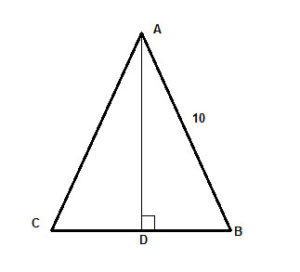 Finding the Area of an Isosceles Triangle
