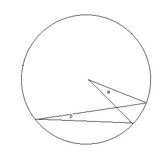 inscribed angle with diameter outside the angle
