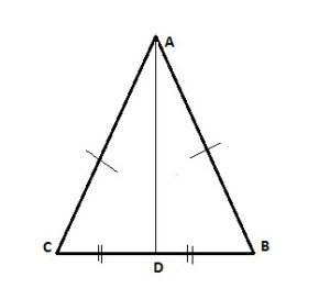 isosceles triangle with median