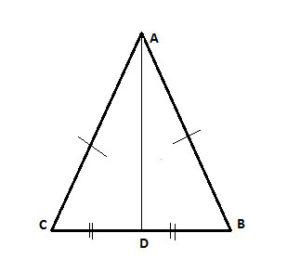 isosceles triangle with median