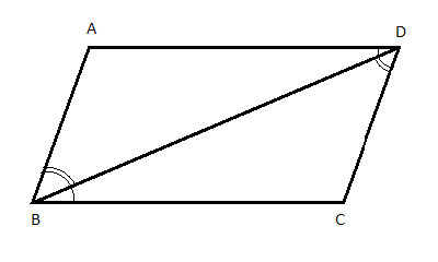 parallelogram with diagonal