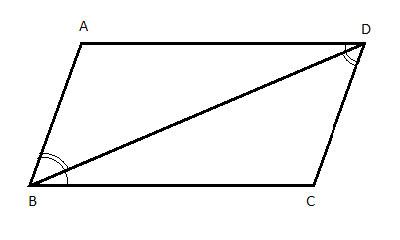 parallelogram with diagonal