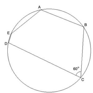 Geometry shape of a polygon inscribed in a circle
