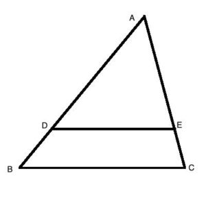 Similar triangles in geometry