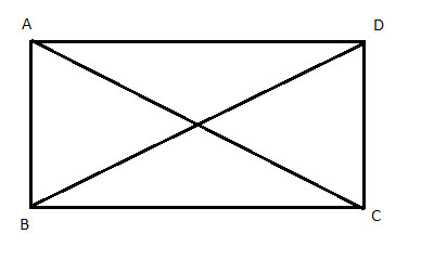 rectangle with diagonals