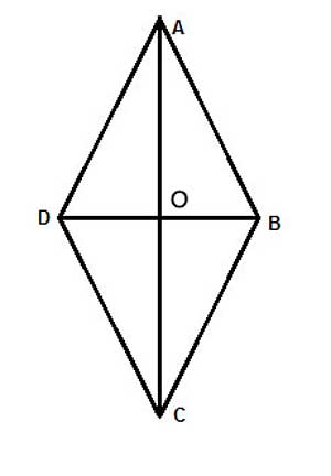 rhombus with perpendicular diagonals