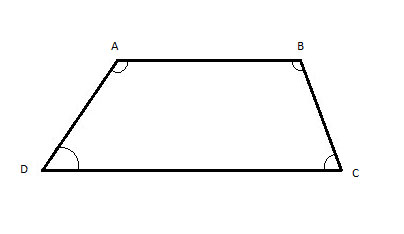 trapezoid with angles