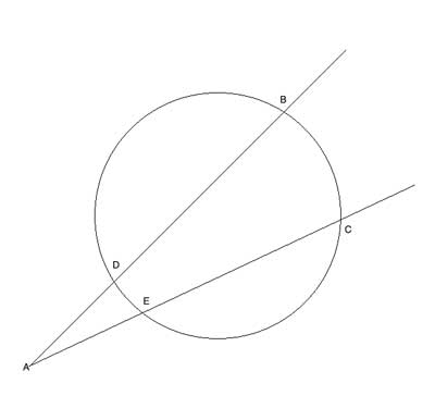 Geometry drawing: intersecting secants