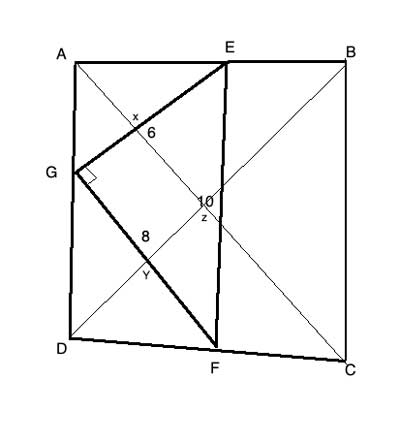 quadrilateral with connected midpoints and triangle and diagonals