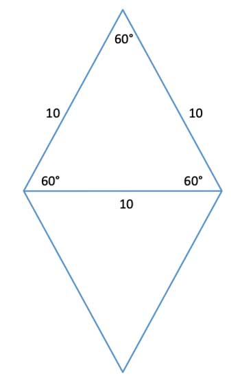 rhombus with equilaterals