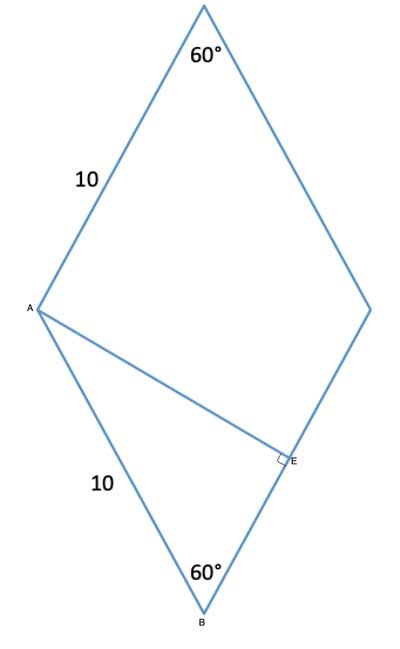 rhombus with height