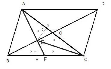 Triangles with equal areas