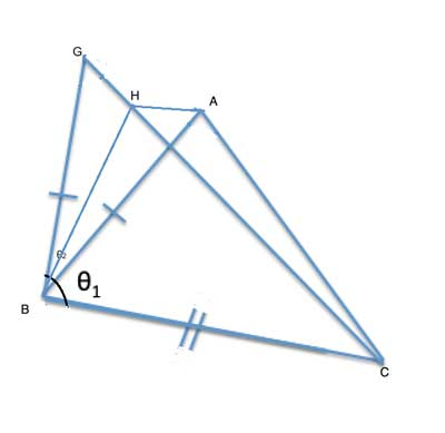 overlapping congruent edges with bisector