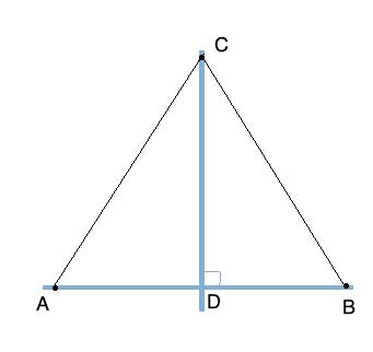 triangles for proving perpendicular bisector