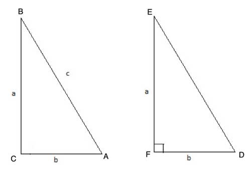constructing ΔDEF as a right triangle