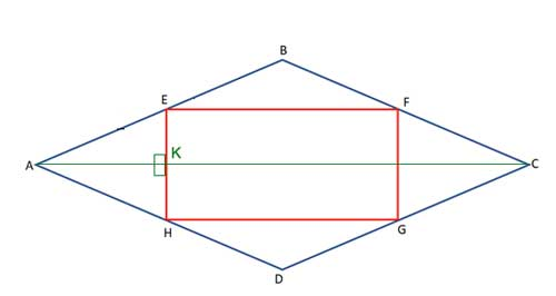 Rhombus with diagonal