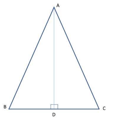 isosceles triangle with bisector