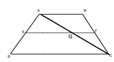 Trapezoid with diagonal