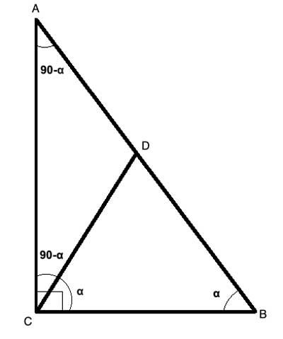 median to hypotenuse