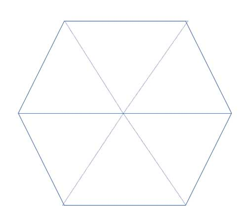 six equilateral triangles