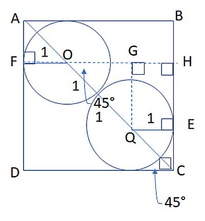 circle with line through center