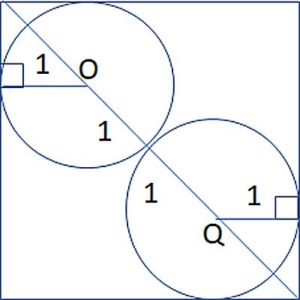 Two Circles Inscribed in a Square