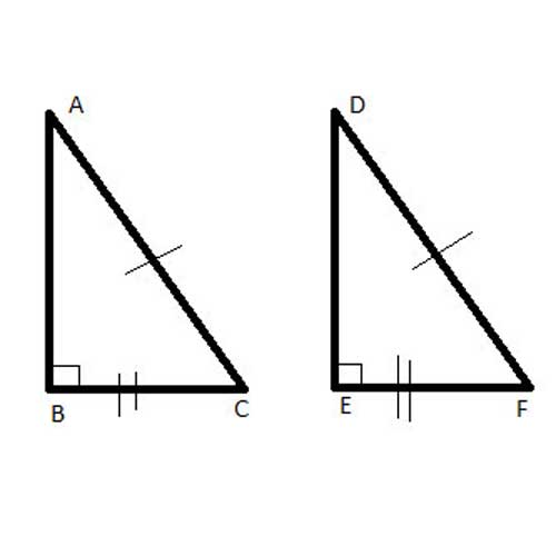 Congruent right triangles - HL Theorem