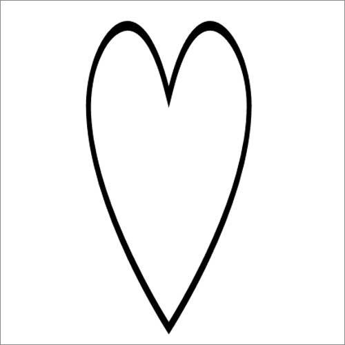 Narrow heart illustration
