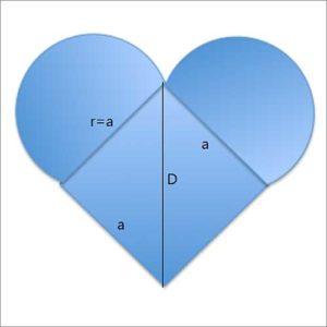 Area of a Heart Shape