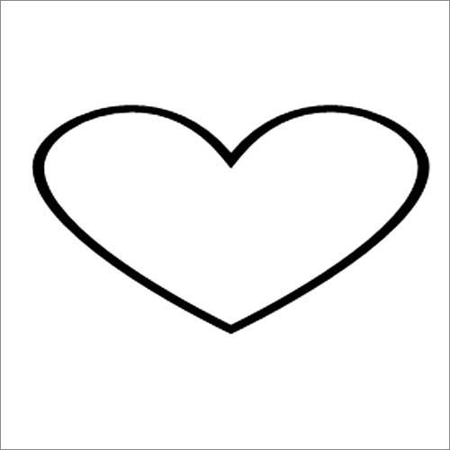 Wide heart illustration